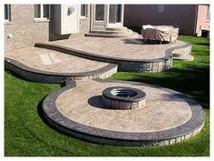 Backyard Concrete Patio Ideas by Multi Level Ipe Deck Conversation Area Decking And Grilling