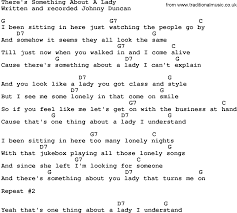 country music there u0027s something about a lady lyrics and chords