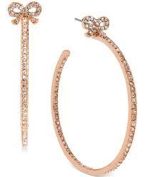 gold hoops betsey johnson gold tone bow hoop earrings jewelry