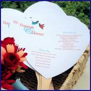Fan Wedding Program Kits Heart Wedding Program Fan Kit Diy Paper Fans For Wedding 50 Pk