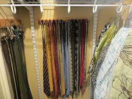 custom wood hooks and hanger for organizing scarves and belts in