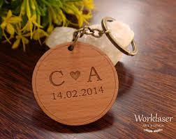 personalized wooden keychains wooden keychain etsy