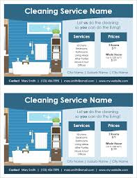 cleaning service flyer template 2 per page by vertex42 com