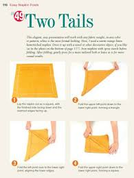 how to fold your napkins for thanksgiving easy two tails napkin