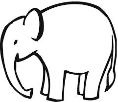 outline of an elephant free download clip art free clip art