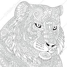 Luxury Tiger Coloring Page On Pages For Kids With An Attribute Of Coloring Pages Tiger