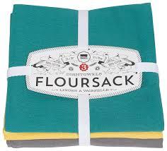 now designs floursack kitchen towels set of three bali blue