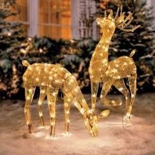 outdoor reindeer decorations lighted outdoor