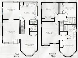 two floor house plans floor plan craftsman designers with daylight basements wrap