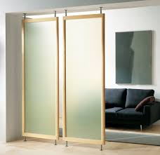 home design breathtaking half wall room divider with black sofa