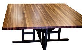 devos custom woodworking custom contemporary eclectic tables custom dining table using edge grain walnut top and a custom wenge base
