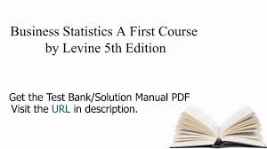 practice test bank for business statistics a first course by