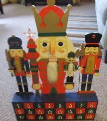 Nutcracker Christmas Door Decorations by Wooden Nutcracker Christmas Advent Calendar 24 Doors Wood Advent