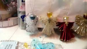 angels made of ribbon from acmoore and bling angels from michaels