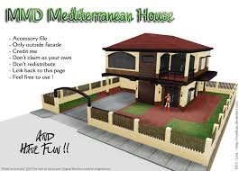 mmd mediterranean house stage dl by nyalinaa on deviantart