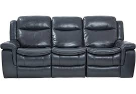 Sofa Recliner Leather Blue Leather Reclining Sofa Reclining Sofas Blue