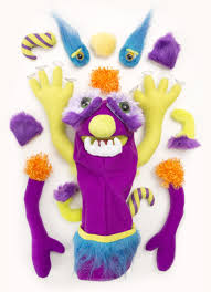 amazon com melissa u0026 doug make your own fuzzy monster puppet kit