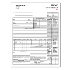 Air Conditioning Invoice Template by Hvac Contractor Invoice Form Custom Form Printing Designsnprint