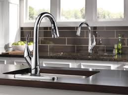 Single Handle Pull Down Kitchen Faucet by Delta Esque Single Handle Pull Down Bar Prep Kitchen Faucet Wayfair
