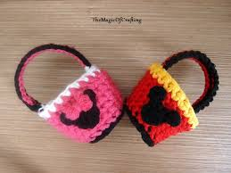 minnie mouse easter baskets free crochet patterns and diy crochet charts minnie and mickey