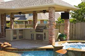 Covered Backyard Patio Ideas Exterior Captivating Covered Outdoor Kitchen Patio Design Using