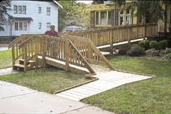Wheelchair Ramp Handrails Building A Wheelchair Ramp Free Plans Part 4