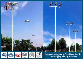 parking lot lighting manufacturers weather resistance outdoor steel tubular floodlight pole for parking