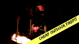 Cheap Backyard Fire Pit by Cheap Outdoor Fire Pit Idea For 14 Youtube
