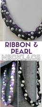ribbon and pearl necklace tutorial the crafty blog stalker
