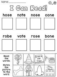 long o activities and worksheets long vowels pinterest