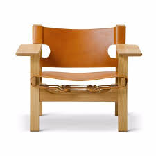 Leather And Wood Chair Fredericia Furniture Borge Mogensen Spanish Chair By Børge