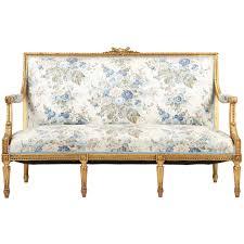 canape louis xvi louis xvi style giltwood antique settee sofa canape c 1900