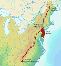 appalachian mountains on map hiking the appalachian trail in jersey princeton magazine
