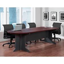 Staples Conference Tables Altra Pursuit 105 Oval Conference Table Cherry 9350096 Staples