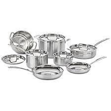 black friday pan set amazon com cuisinart 77 10 chef u0027s classic stainless 10 piece