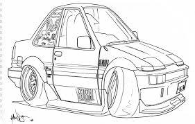 coloring pages drifting cars caricature t e k n o t e k n o t e k n o