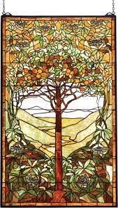 tiffany tree of life stained glass window fall make me items