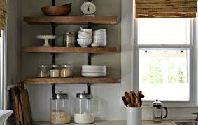 decorating ideas for kitchen shelves open kitchen shelving and