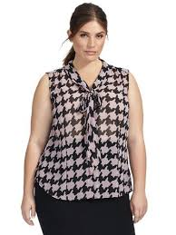 houndstooth blouse houndstooth plaid gwynnie bee