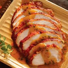 roasted turkey breast with chipotle apricot gravy