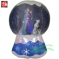 Decoration Christmas Frozen by Gemmy Airblown Inflatable 6 U0027 Photorealistic Disney U0027s Frozen Snow