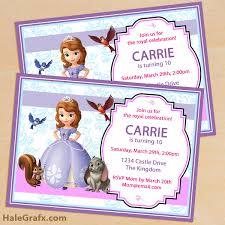 printable sofia the first birthday invitation pack