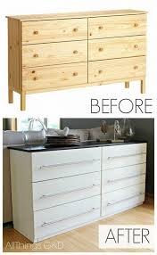 Ikea Dresser Transformed Into Kitchen Sideboard DIY Cozy Home - Kitchen side tables