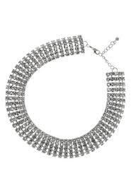 silver plated collar necklace images Stylish jewellery 5 row swarovski crystal choker collar necklace jpg