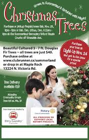 rotary christmas tree fundraiser rotary club of summerland