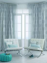 interior elegant living room curtains with rail and drapes and