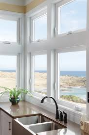 Home Windows Design Pictures by Kitchen In Beach Home Milgard Tuscany Series Vinyl Windows
