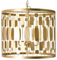 Transitional Chandeliers Riviera Hollywood Regency Gold Leaf 3 Light Chandelier