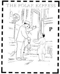 polar express coloring page free download