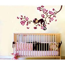 Monkey Decorations For Nursery Easy Baby Room Decorations Nursery Wall Stickers